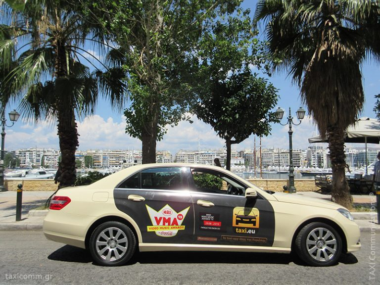 Διαφήμιση σε ταξί - taxi ad, MAD Video Music Awards, by TAXI Communications Advertising Agency - taxicomm.gr