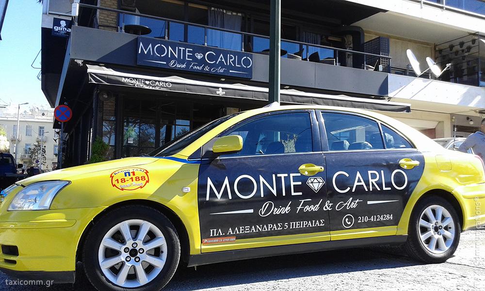 Διαφήμιση σε ταξί - taxi ad, Monte Carlo, by TAXI Communications Advertising Agency - taxicomm.gr