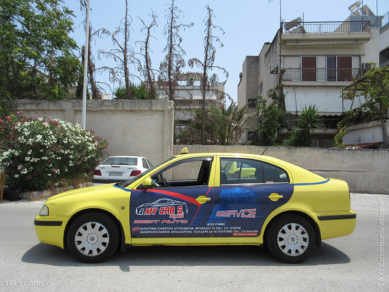 Διαφήμιση σε ταξί - taxi ad, My Car's Expert 2016, by TAXI Communications Advertising Agency - taxicomm.gr